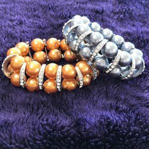 Jewelry - Lot of 2 chunky stretch bracelets